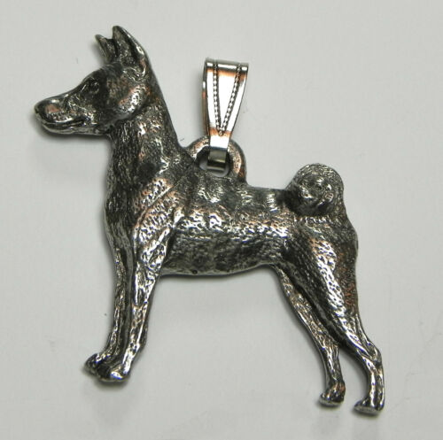 Basenji Pendant Dog Harris Fine Pewter Made in USA jewelry