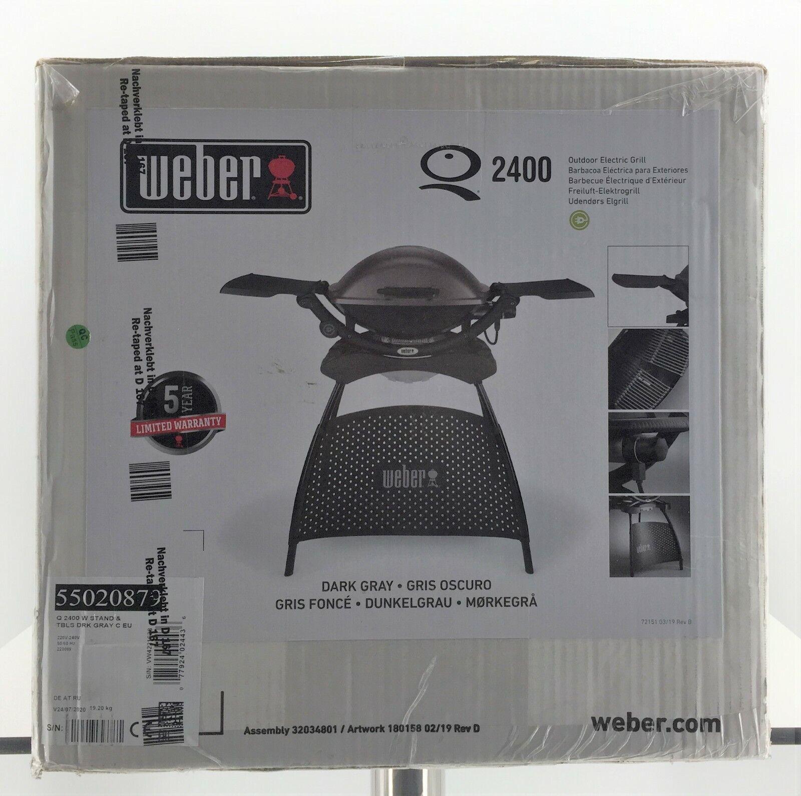 Weber Elektrogrill Q 2400 Stand 55020879 Dunkelgrau
