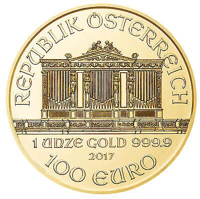 2017 - 1oz Gold Austrian Philharmonic .9999 Fine BU
