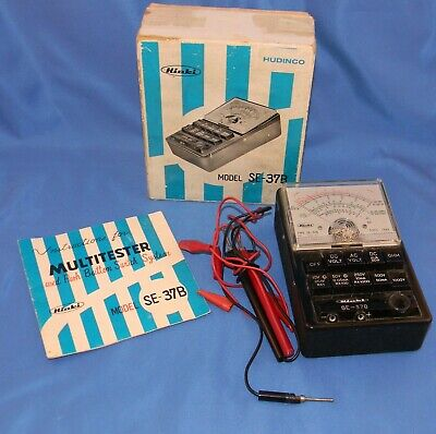 Vintage Hioki Multitester Model Se-37b In Box Winstructions