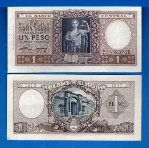 Argentina P-260b 1 Pesos Year ND 1956 a/Uncirculated Banknote