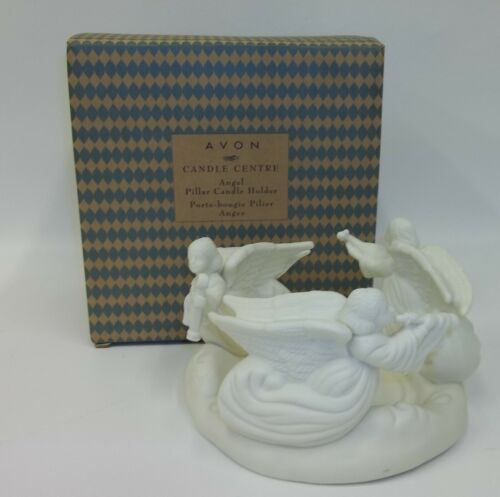Avon Christmas Circle of Angels - Porcelain Pillar Candle Holder - Mint in Box