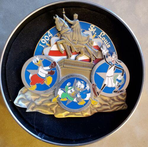 Disney Olympic St. Louis 1904 Jumbo Goofy Donald Louie Dewey LE 750 Pin