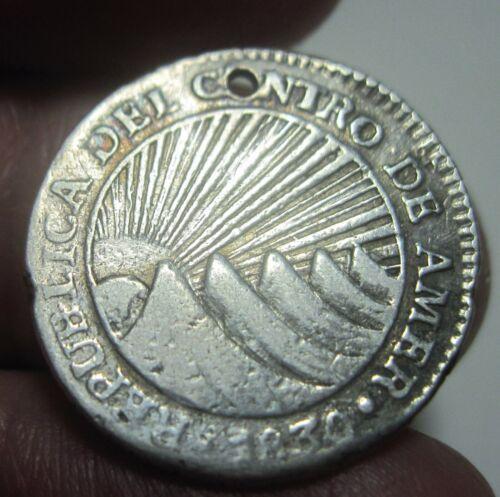 1830 TF (CENTRAL AMERICAN REPUBLIC (1 REAL ) HONDURAS -VERY RARE--