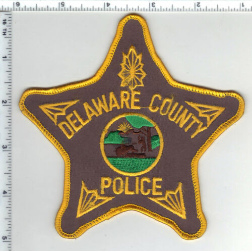 Delaware County Police (Indiana) Shoulder Patch - new from the 1980s