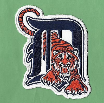 New Detroit Tigers Large D Tiger 3 1 2 X 5  Iron On Patch Free Shipping