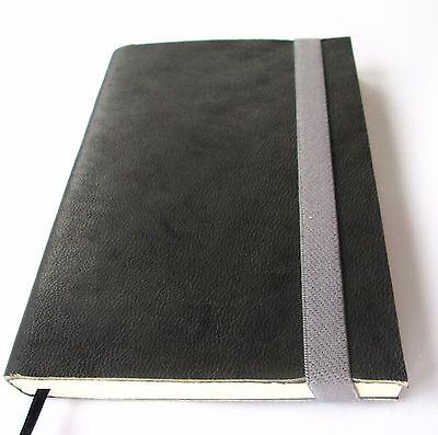 Journal Notebook Blank Leather Gray Handmade Pocket size