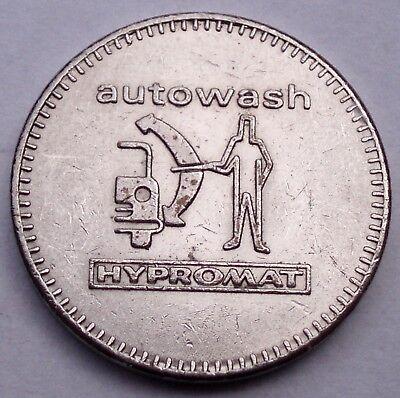 SWITZERLAND HYPROMAT AUTOWASH Car Wash Token 22mm 5.5g Cu-Ni M7.5