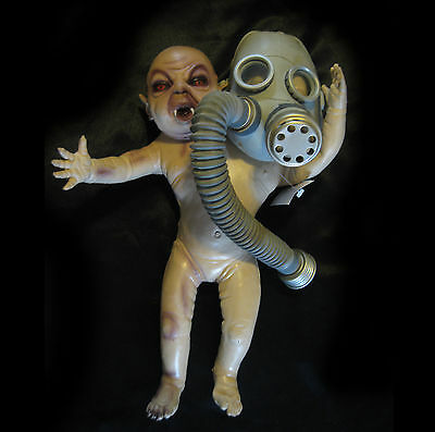Two Headed Baby Freak Human Oddity Lifesize Scary Halloween Haunted House Prop
