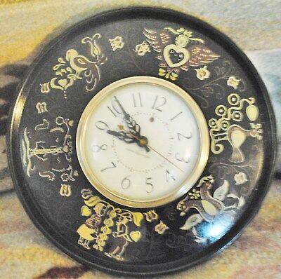 Vintage General Electric Wall Clock Model 2H69 Dutch Motif. WORKS, FREE SHIPPING