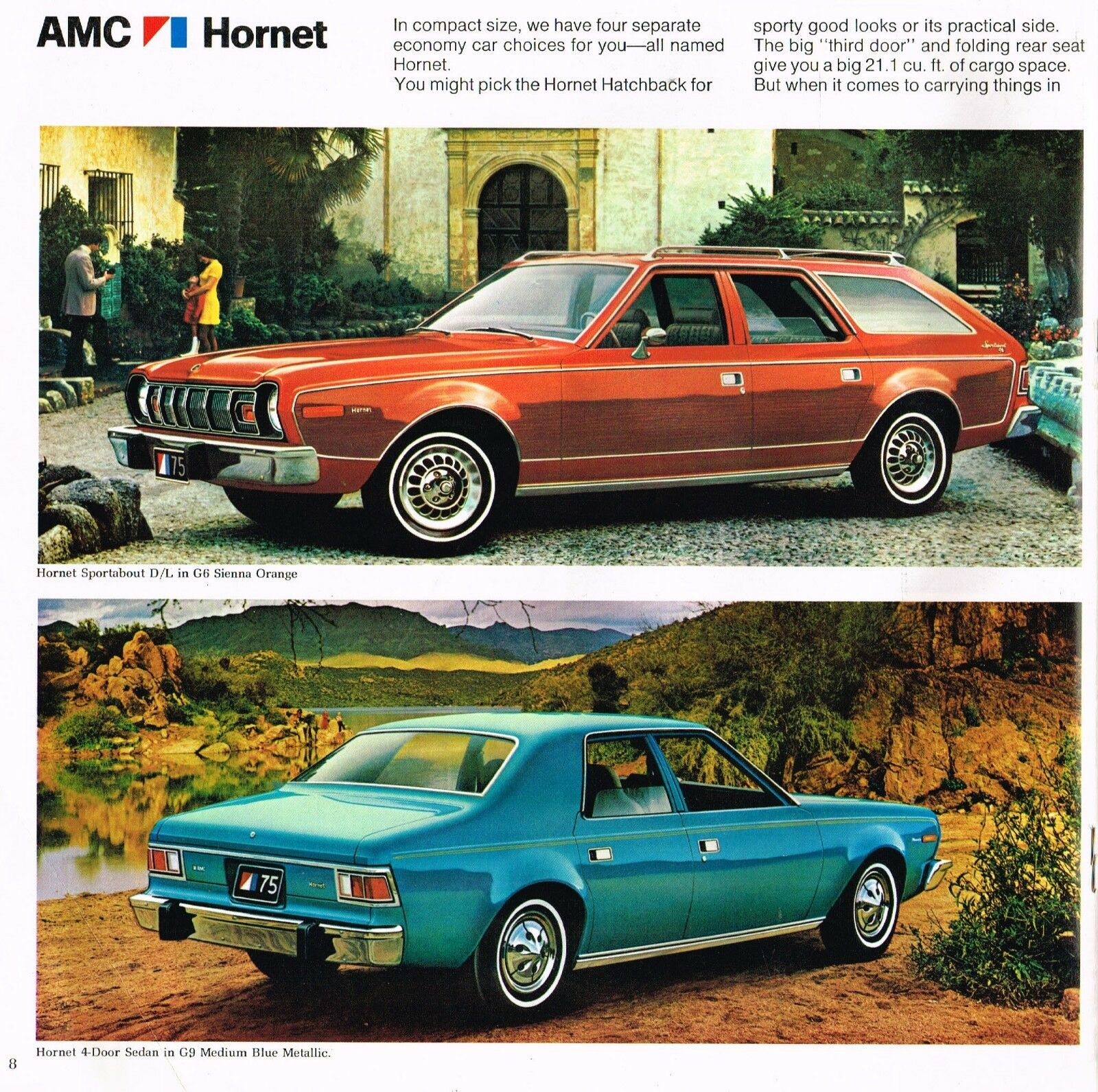 1976 Matador Wiring Diagram Electrical Diagrams Amc Gremlin 1975 Hornet Brochure Catalog W Color Chart Coupe