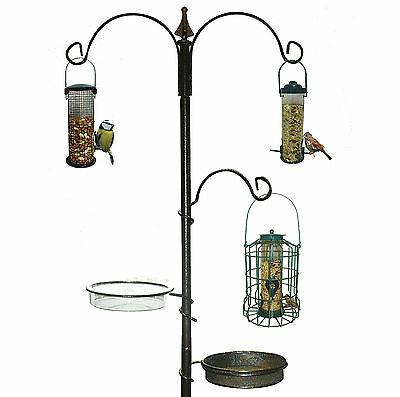Garden Wild Bird Feeding Station Water Bath Seed Tray Hanging Feeder