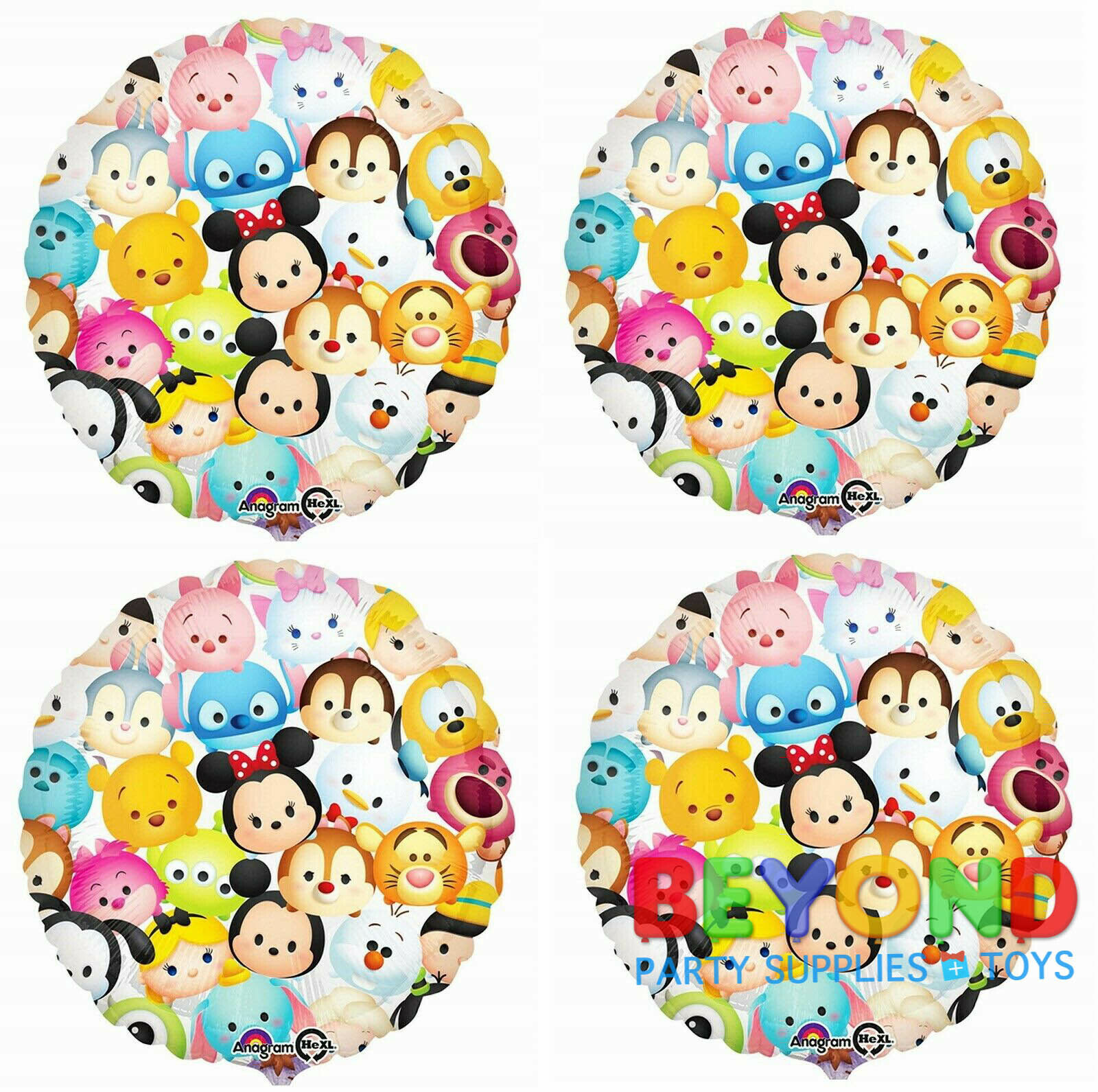 Disney Tsum Tsum Happy Birthday Party Mylar Foil Balloon 18""