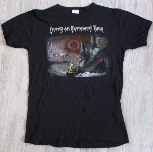 Beau Rare Vintage Diamond Head Living On Borrowed Time Tour Promo T Shirt M  Original