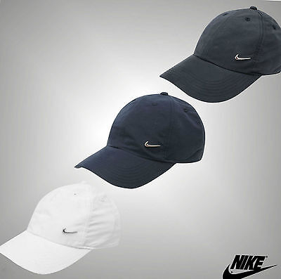 Nike Men Metal Swoosh Cap Baseball Hat Nike Logo Adjustable Running FREE POSTAGE