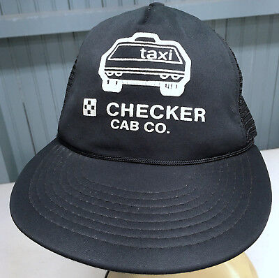 Vintage OLD Checker Cab Taxi Mesh Snapback Black Baseball Cap Hat  for sale  Shipping to India
