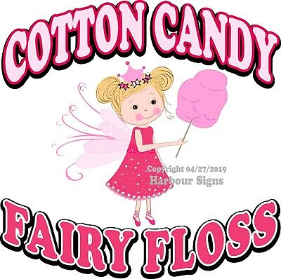 Fairy Food Candy - Cotton Candy Fairy Floss DECAL (Choose Your Size) Concession Food Truck Sticker