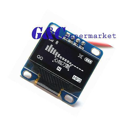 """White 0.96"""" IIC I2C 128X64 OLED LCD Display Module Arduino/STM32/AVR/51 M45"""