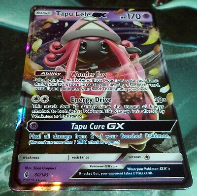 Pokemon Tapu Lele GX - 60/145 - Ultra Rare Sun & Moon Guardians Rising PL-EX