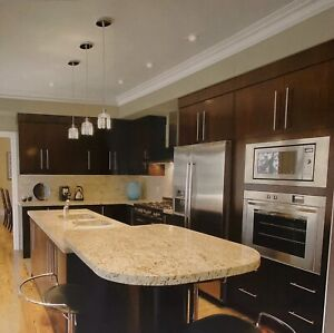 Kitchen cabinets and granite counter