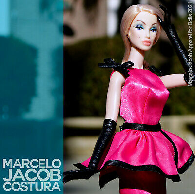 PEPLUM COUTURE DRESS fits VINTAGE & SUPERSTAR BARBIE,FASHION ROYALTY, FR2