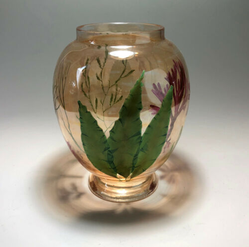 Moser Decorated Aquatic Vase SIGNED Sea-Weed W&R L. PATENT