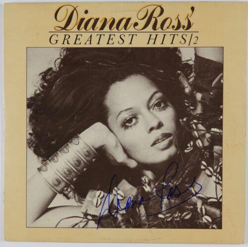 Diana Ross JSA Signed Autograph Album Record LP Greatest Hits 2