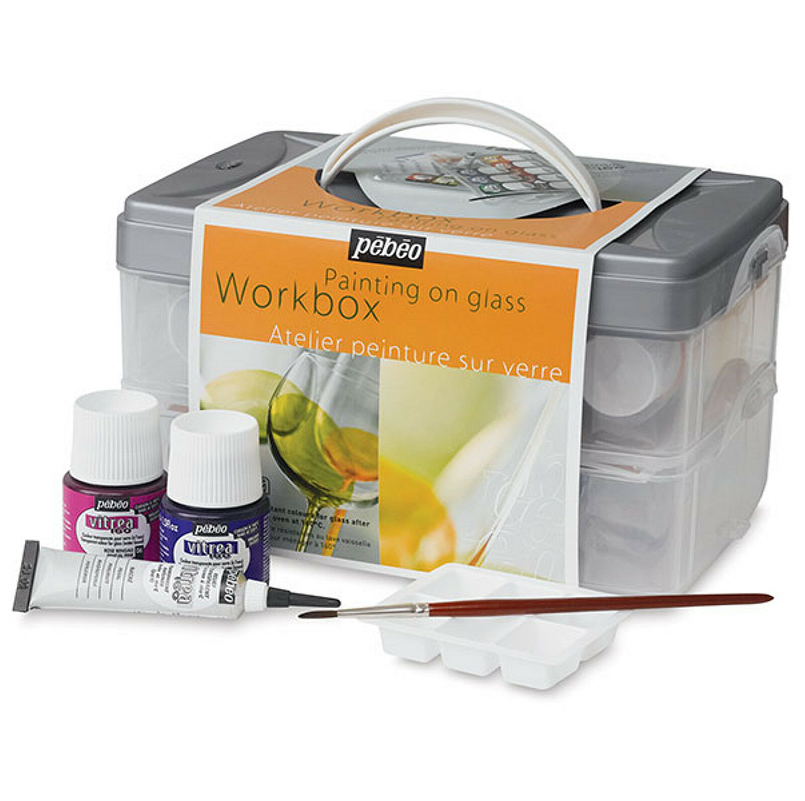 pebeo vitrea 160 workbox painting on glass starter set 10