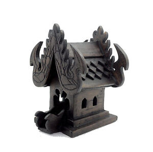 Thai-Spirit-House-teak-wood-altar-shrine-buddha-temple-handmade-craft-buddhist