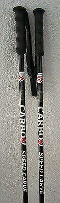 CARBON Skistöcke SPEED CARVE 120,125 cm Alpinski Ski Stöcke