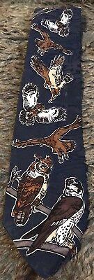 Owl WWF Necktie Tie / Bird Species