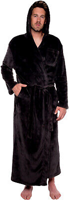 Ross Michaels Mens Hooded Full Length Big and Tall Long Bath Robe Big Mens Robes