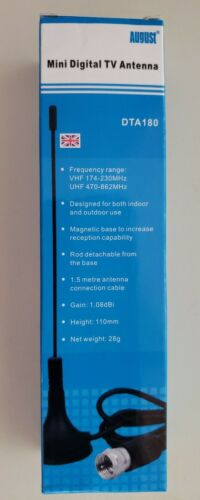 mini digital antenna dta180 indoor outdoor magnet