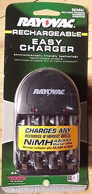 Rayovac Easy Charger Nimh 2 Aa Or 4 Aaa Spectrum Brands Ps131e Rechargeable