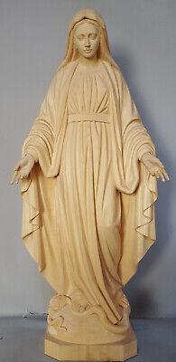 Madonna Immacolata della Medaglia Miracolosa in Legno Scolpito a mano.ALTEZZA CM. 80- 2,62 ft. <br>NUOVA, New. In Legno scolpito a mano good for indoor Statue