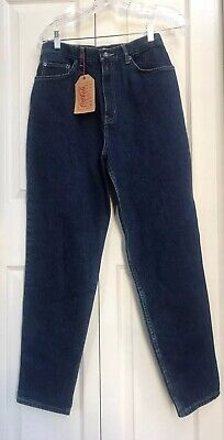 """NEW Vintage Coca-Cola High Waisted Mom Jeans Leather Logo Patches SZ 12 ~ 29"""" L"""