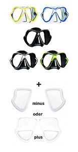 Mares-X-Vision-Mascara-de-buceo-con-opticos-Vidrio-positivo-y-negativ