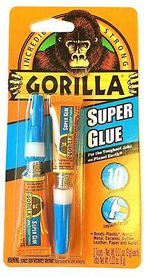 Gorilla Glue Twin Pack Super Glue Tubes -each 3g 78001 - One Pack Of 2