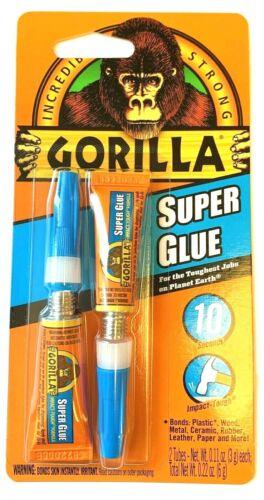 GORILLA GLUE TWIN PACK SUPER GLUE TUBES -EACH 3g #78001 - ONE PACK OF 2