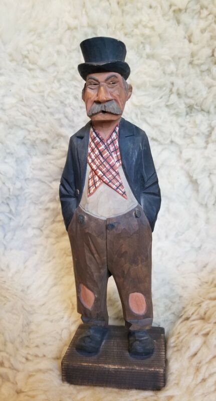 Lars Trygg Wooden Carving Large Signed Hobo