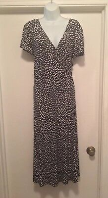 Womens Size 22W Dress Black White Short Sleeve Slinky Stretch Ksl Cross Top