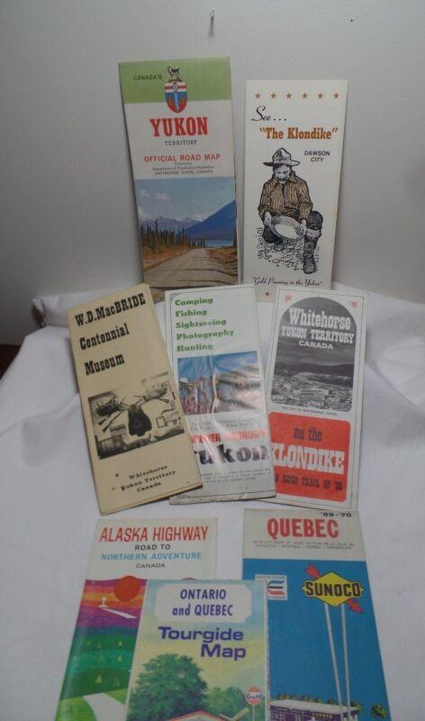 Vintage Lot of Canadian Road Maps Pamphlets 60