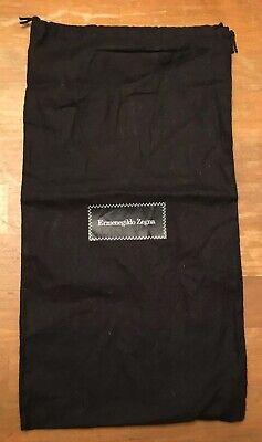"Authentic ERMENEGILDO ZEGNA Black Shoe Dust Bag 14.5"" x 7.5"" ITALY Drawstring for sale  Decatur"