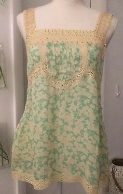 Rebecca Taylor Silk Tank / Cami Floral Size 10