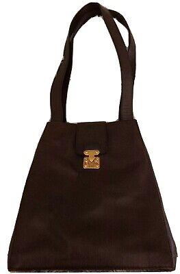 VICTOR HUGO Textured Leather-Gold Tone Hardware-2 Strap Shoulder Bag
