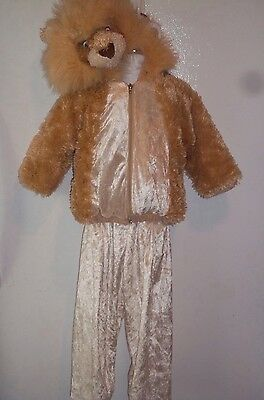 Toddler Kids Soft Warm 2pc Lion Play Dress Up Halloween Costume Sz S 18mos 2 3T (Warm Toddler Costumes)