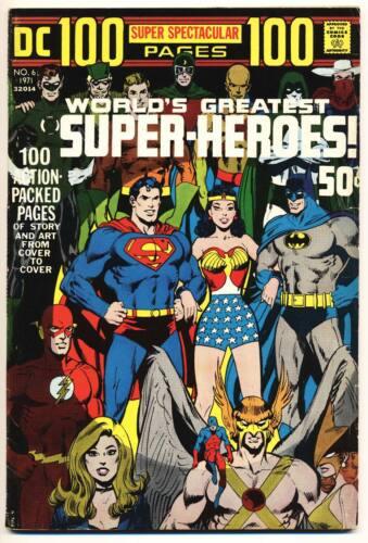 DC 100 PAGE SUPER SPECTACULAR #6 VG, Neal Adams Wrap c, Giant, DC Comics 1971