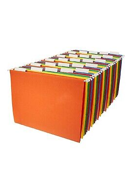 Hanging File Folders Letter Size Assorted Colors Filing Cabinet Organizer