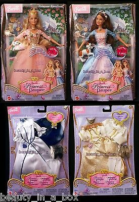 Erika Barbie Doll Anneliese Princess and the Pauper 2 Fashion Sets Lot 4 SW