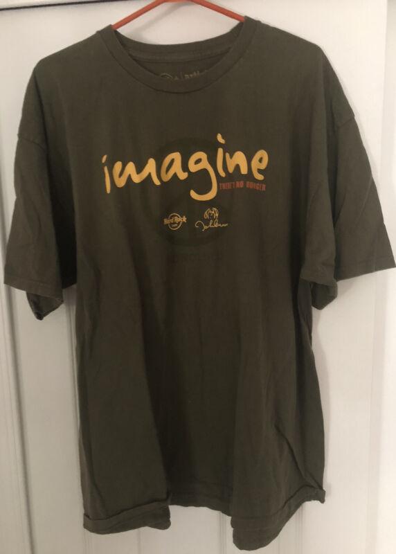 John Lennon Imagine Why Hunger T-shirt Honolulu